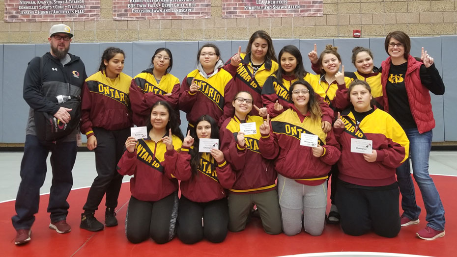 Ontario girls wrestling team levels the playing field
