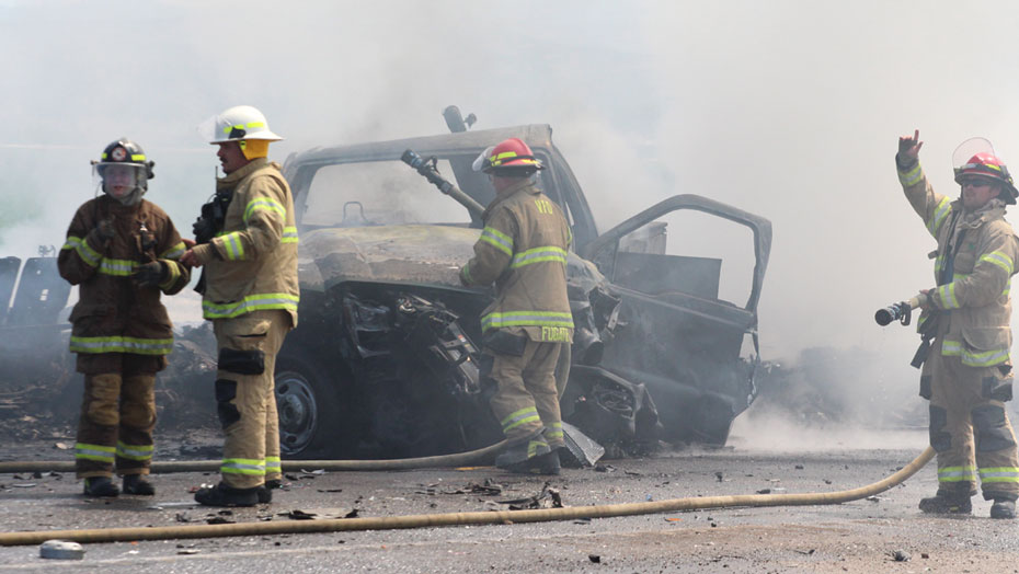 Fatal accident, fire closes U S  20 near Vale on Monday afternoon
