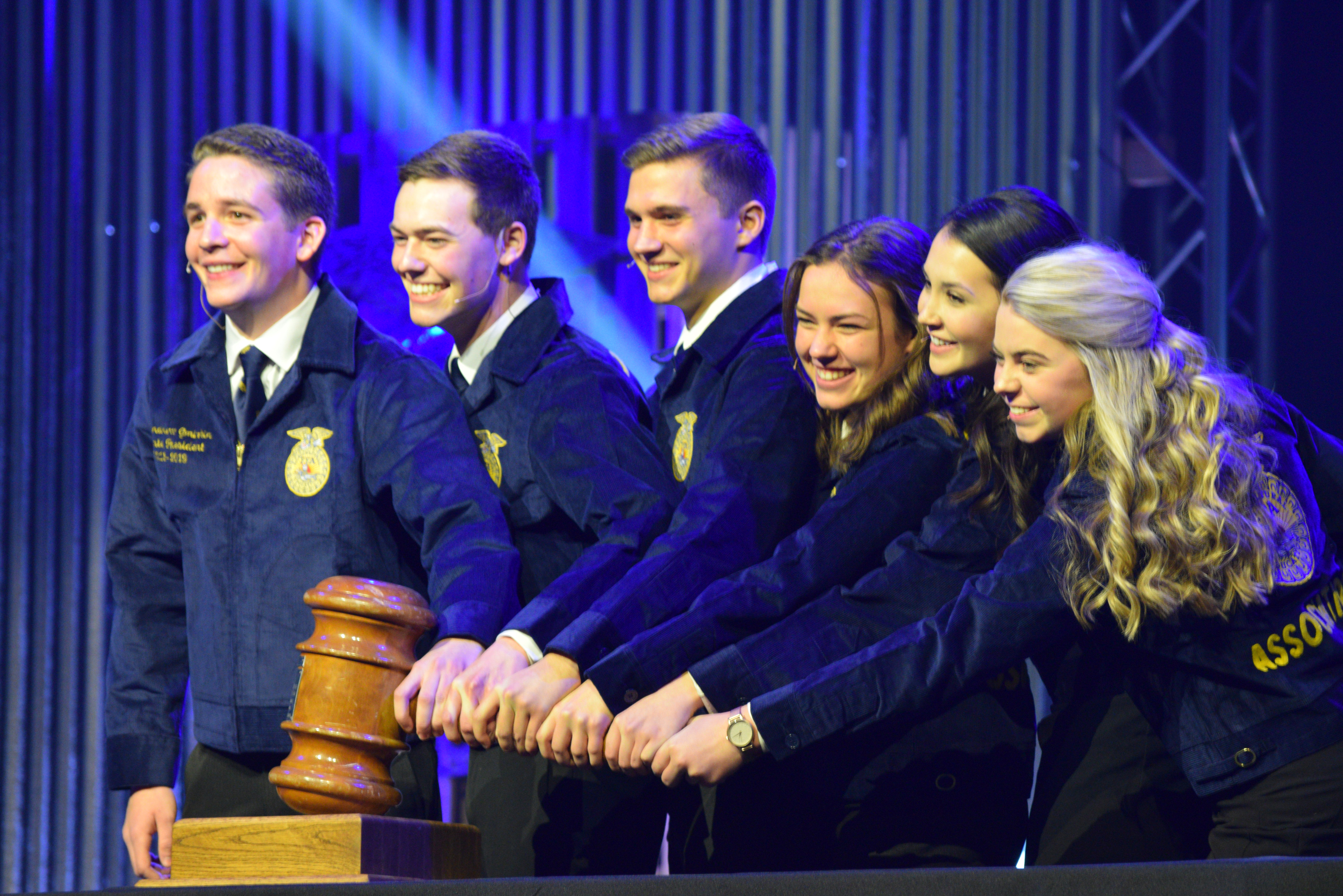 65962b68ed4e Newly elected state reporter Sundee Speelmon, second from right, joins with  the other newly elected state FFA officers. (Submitted photo)